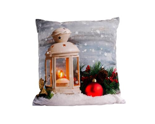 led dekokissen mit f llung 40x40 cm weihnachten winter leuchtkissen kissen deko ebay. Black Bedroom Furniture Sets. Home Design Ideas