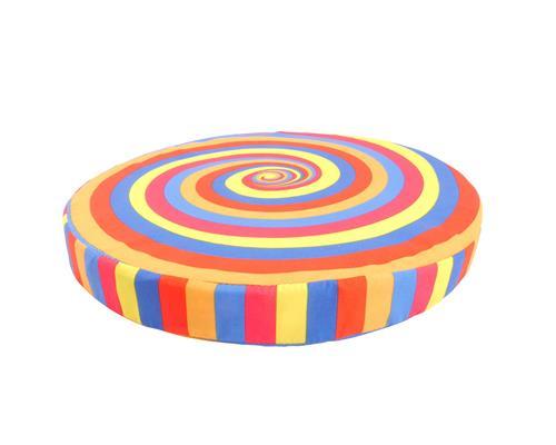sitzkissen farbwirbel rund 40 cm stuhlkissen dekokissen kreise ebay. Black Bedroom Furniture Sets. Home Design Ideas