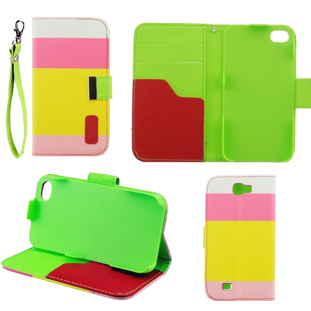 für Apple iPhone 6 Flip Case Book Smart Cover Wallet 3Colors pink
