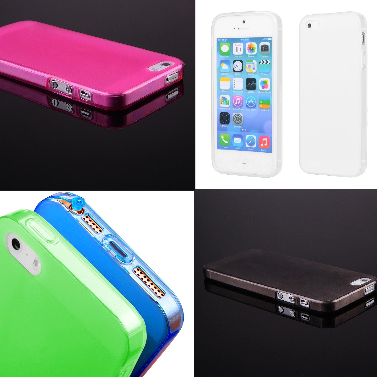 für Apple iPhone 5 5S TPU UltraSlim Schutzhülle FITTY pink