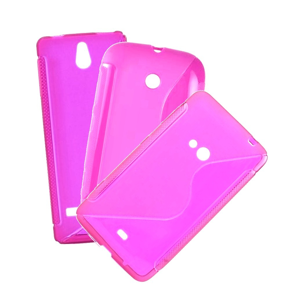 für APPLE iPhone 4 /4s Silikon Case TPU duo t-pink