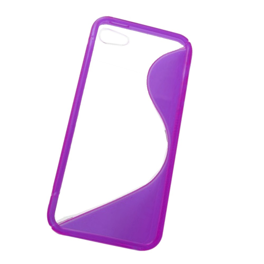 für APPLE iPhone 5 5s Silikon Case TPU t-lila