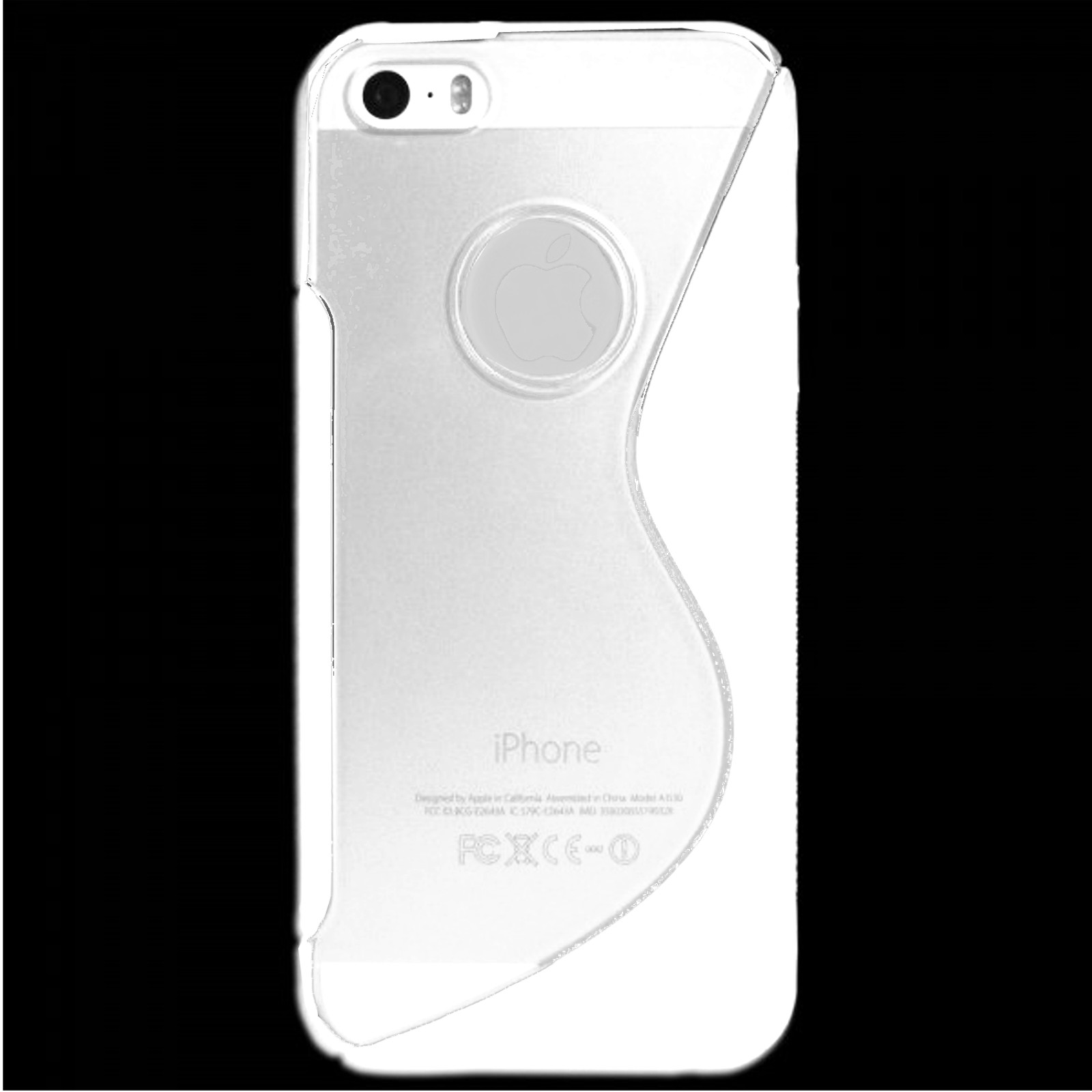 für APPLE iPhone 5 5s Silikon Case TPU t-weiß