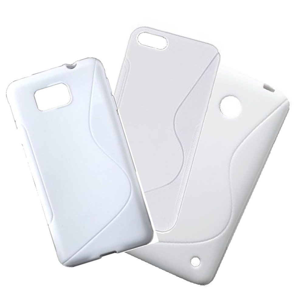 für APPLE iPhone 4 /4s Silikon Case TPU duo t-weiß