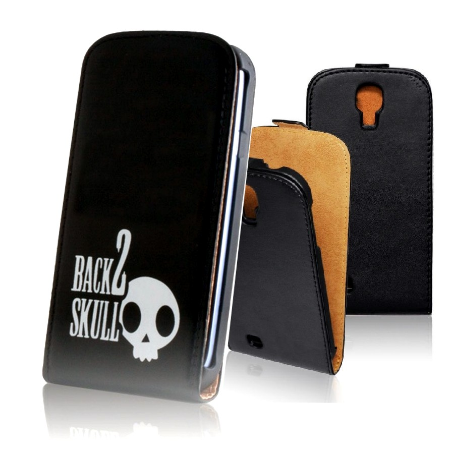 für SAMSUNG Galaxy Core Plus SM-G350 Flip Case Slim skull