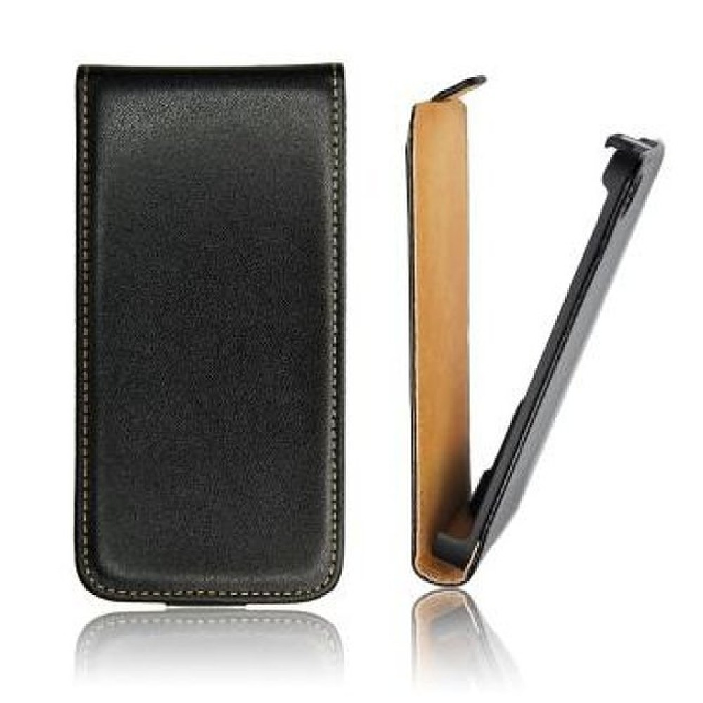 für SAMSUNG Galaxy Ace Plus S7500 Flip Case Slim schwarz