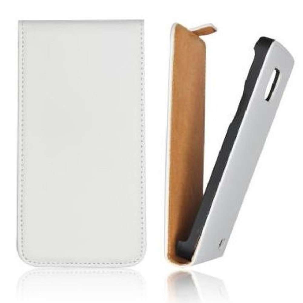 für SAMSUNG Galaxy Core Plus SM-G350 Flip Case Slim weiss