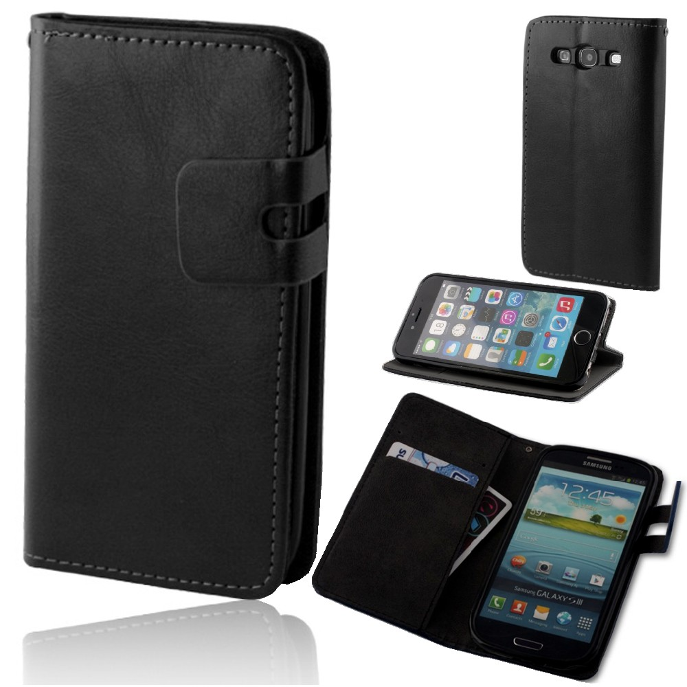 für LG G4 Wallet Flexi Book Smart Plus Case schwarz