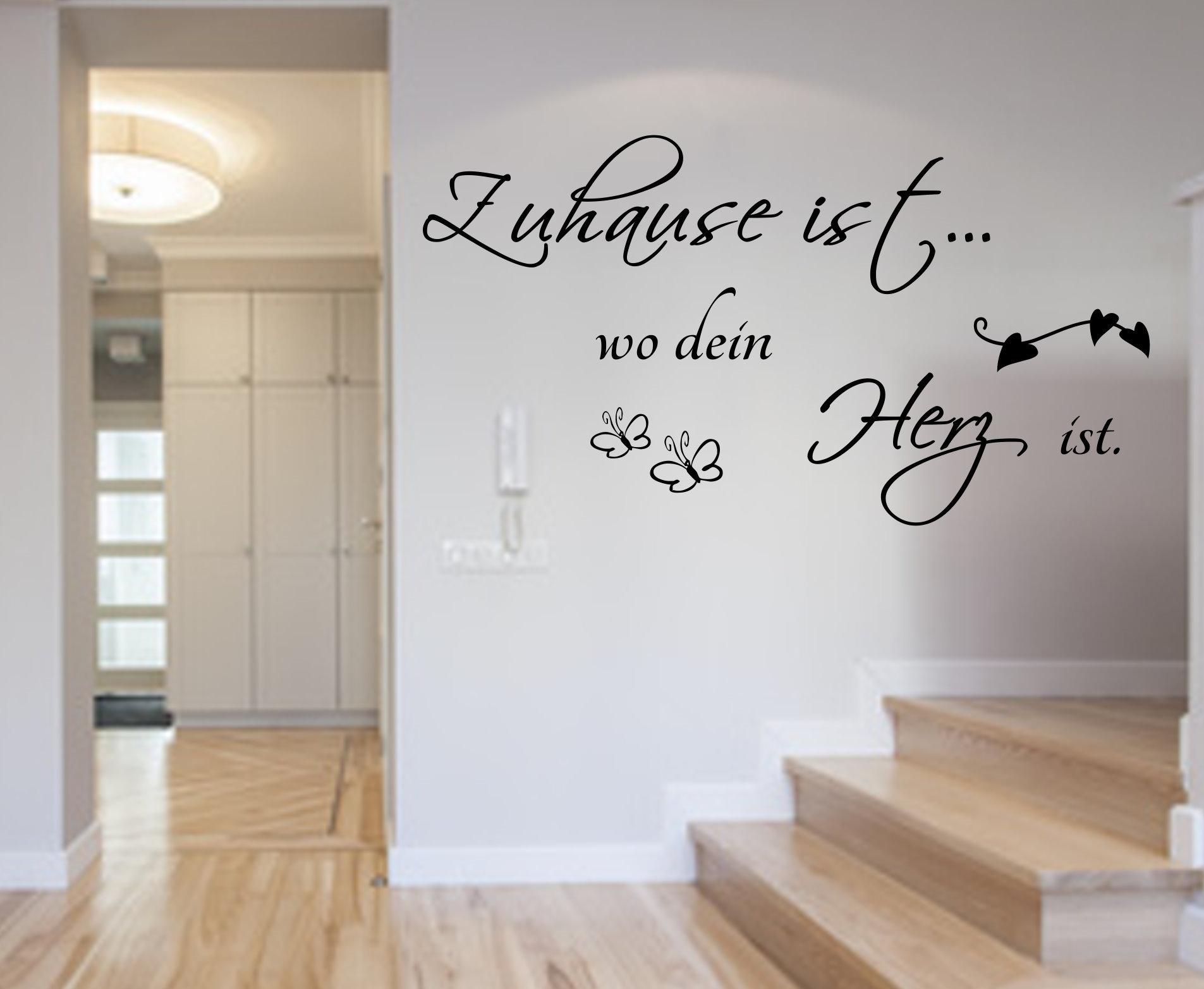 Faszinierend Wandtattoo Zuhause Ist Dekoration Von Wo Dein Herz Größe Xxl 120cm X