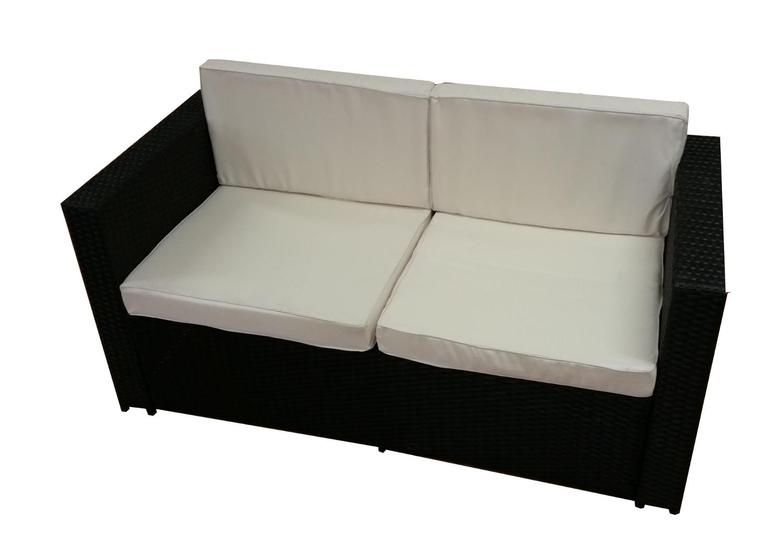 polyrattan lounge sofa 2 sitzer gartenbank gartenm bel gm9 braun sofa ebay. Black Bedroom Furniture Sets. Home Design Ideas