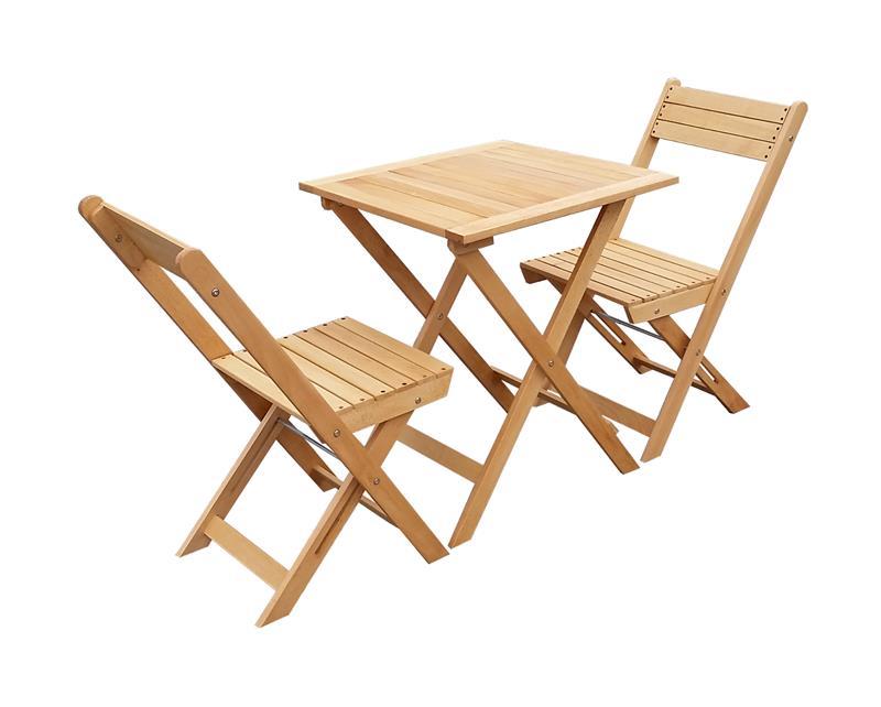 3tlg buche holz gartenm bel bistroset balkonset klappbar gm3 60x60hb ebay. Black Bedroom Furniture Sets. Home Design Ideas