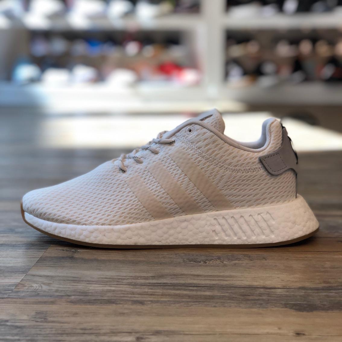 Details zu adidas NMD R2 Gr.44 Schuhe Sneaker weiß Boost Premium B96356