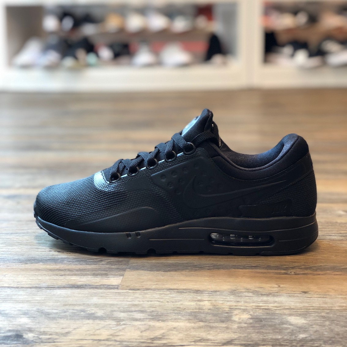 Details zu Nike Air Max Zero Essential Gr.43 Schuhe Sneaker Turn schwarz Neu 876070 006