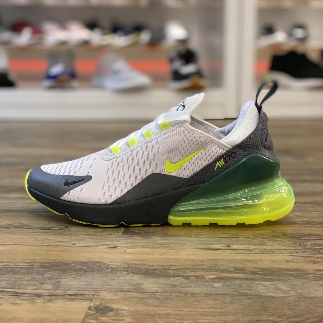 Detalles de Nike Air Max 270 Gr.45, 5 Zapatillas Deportivas Blanco Gris Running CJ0550 001