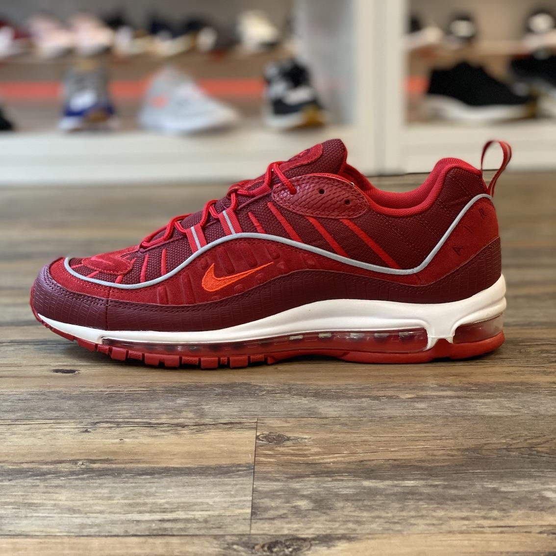 Detalles de Nike Air Max 98 Gr.45, 5 Zapatillas Deportivas Rojo Running AO9380 600 Hombre