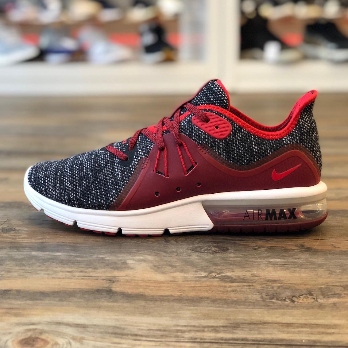 Details zu Nike Air Max Sequent 3 Gr.40 Sneaker Schuhe Running rot 921694 015 Herren Sport