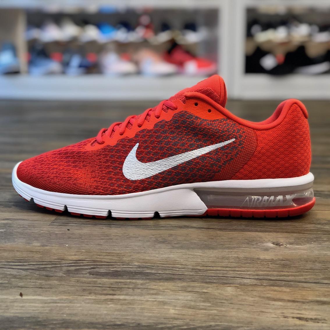 Détails sur Nike Air Max Sequent 2 Taille 49,5 Running Sneaker Rouge Chaussures 270 852461 800 afficher le titre d'origine