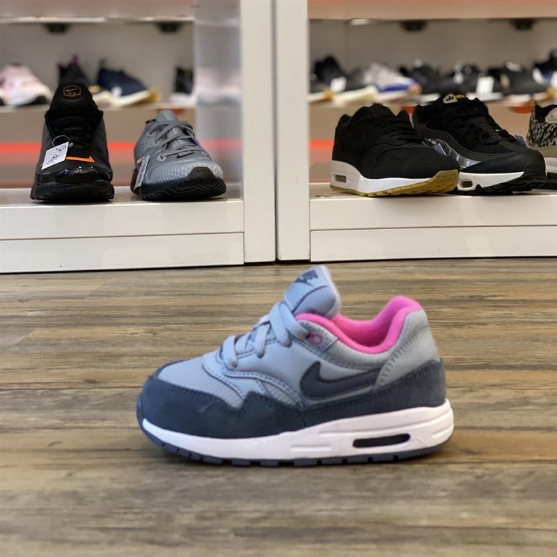 Détails sur Nike Air Max 1 Tdv Gr.23,5 Chaussures Baskets Bleu 270 90 807607 400 Enfant Run